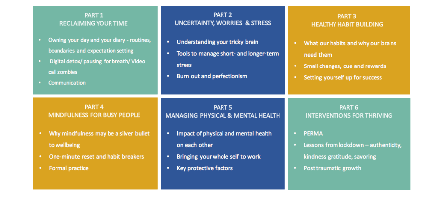 The Healthy Work programme - six session breakdown